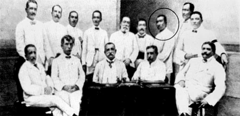 Mariano with Bank of the Philippine Islands 1908 officers and fellow members of BPI's Board of Directors